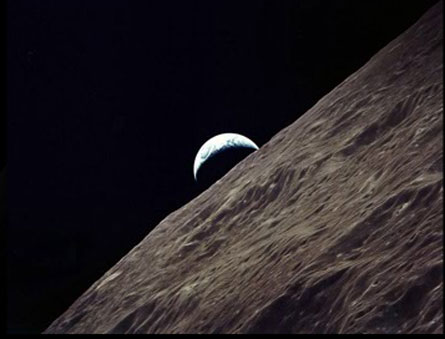 Earthrise, as seen by Apollo 15