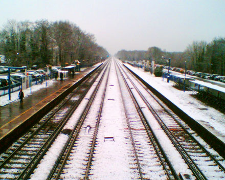 Fleet Station, in the snow