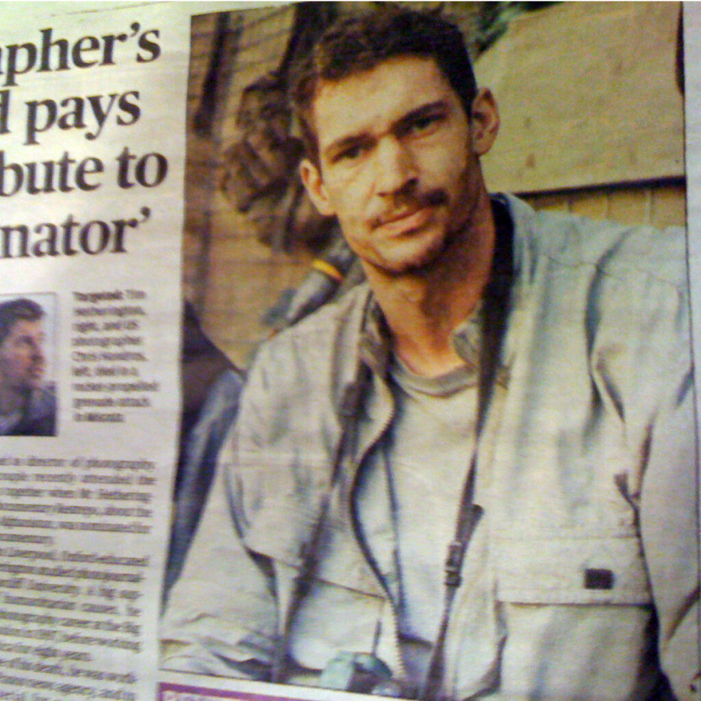 Tim Hetherington in The Evening Standard
