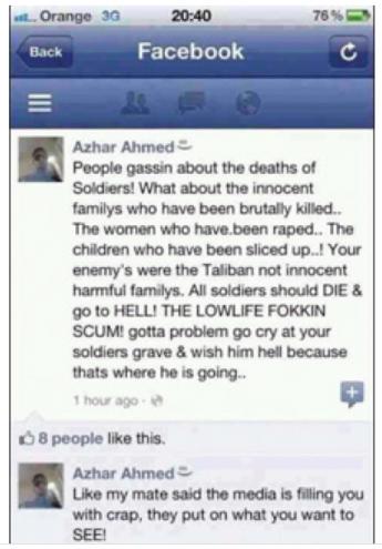 Azhar Ahmed Facebook Status