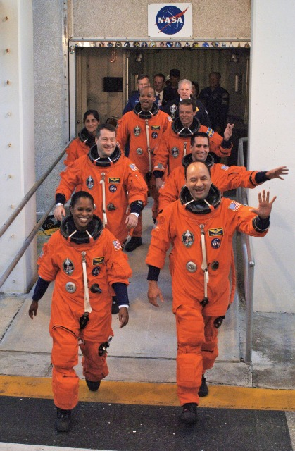 CFrew of STS-116, 9th Dec 2006 (Photo © NASA)