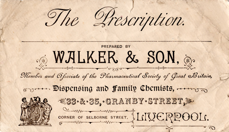 Walker & Son, Member and Associate of the Pharmaceutical Society of Great Britain