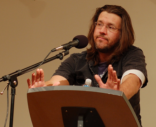 David Foster Wallace in San Francisco, 2006. Photo by Steve Rhodes