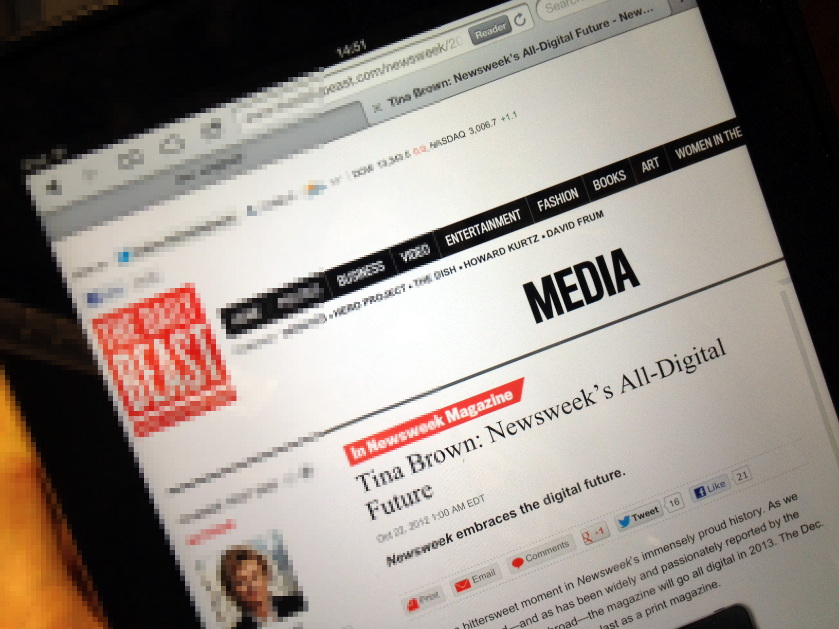 Newsweek announces the digital transition