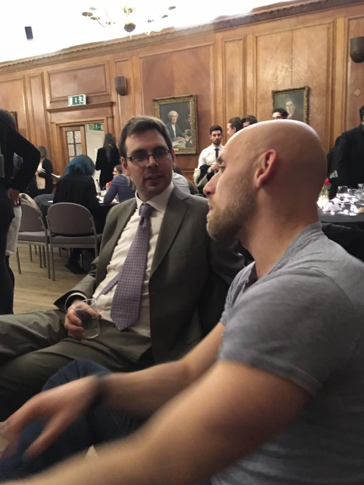 Yrsrly in conversation with author Tom Pollock at the University of Roehampton Creative Writing Soiree. 23 March 2017. Photo by Leone Ross.