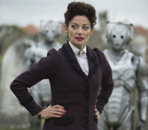 Michelle Gomez as 'Missy' from Doctor Who series 8 ep 12.