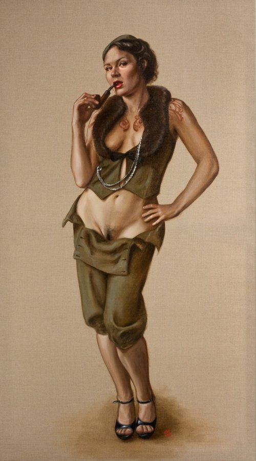 'Ms Ruby May, Standing' by Leena McCall (Oil on canvas, 2012)