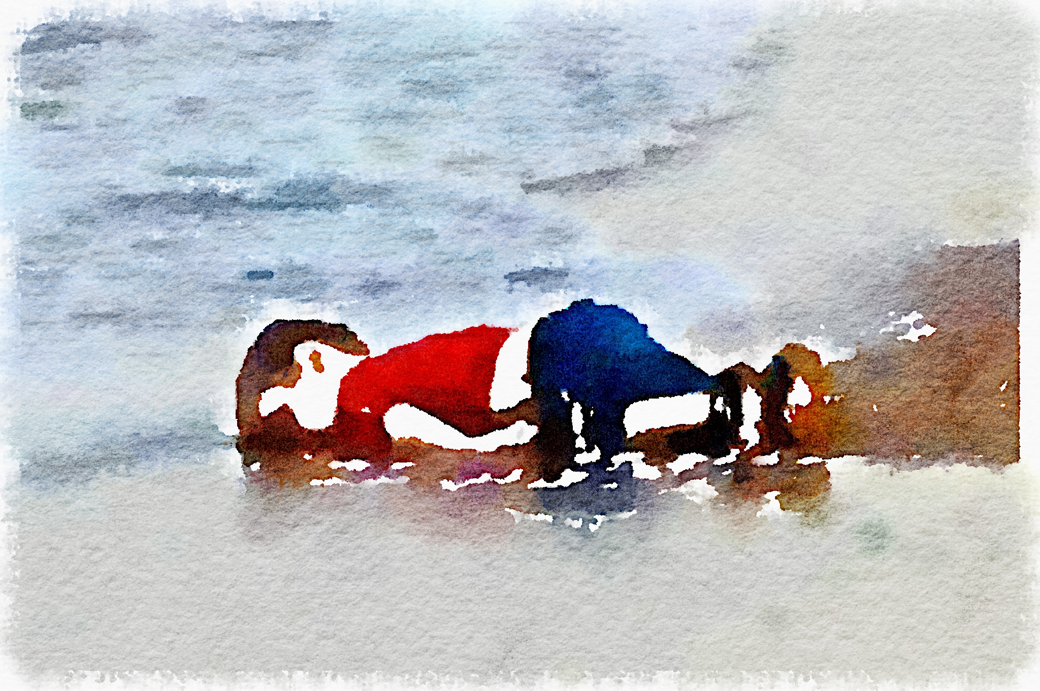 Aylan Kurdi on the beach