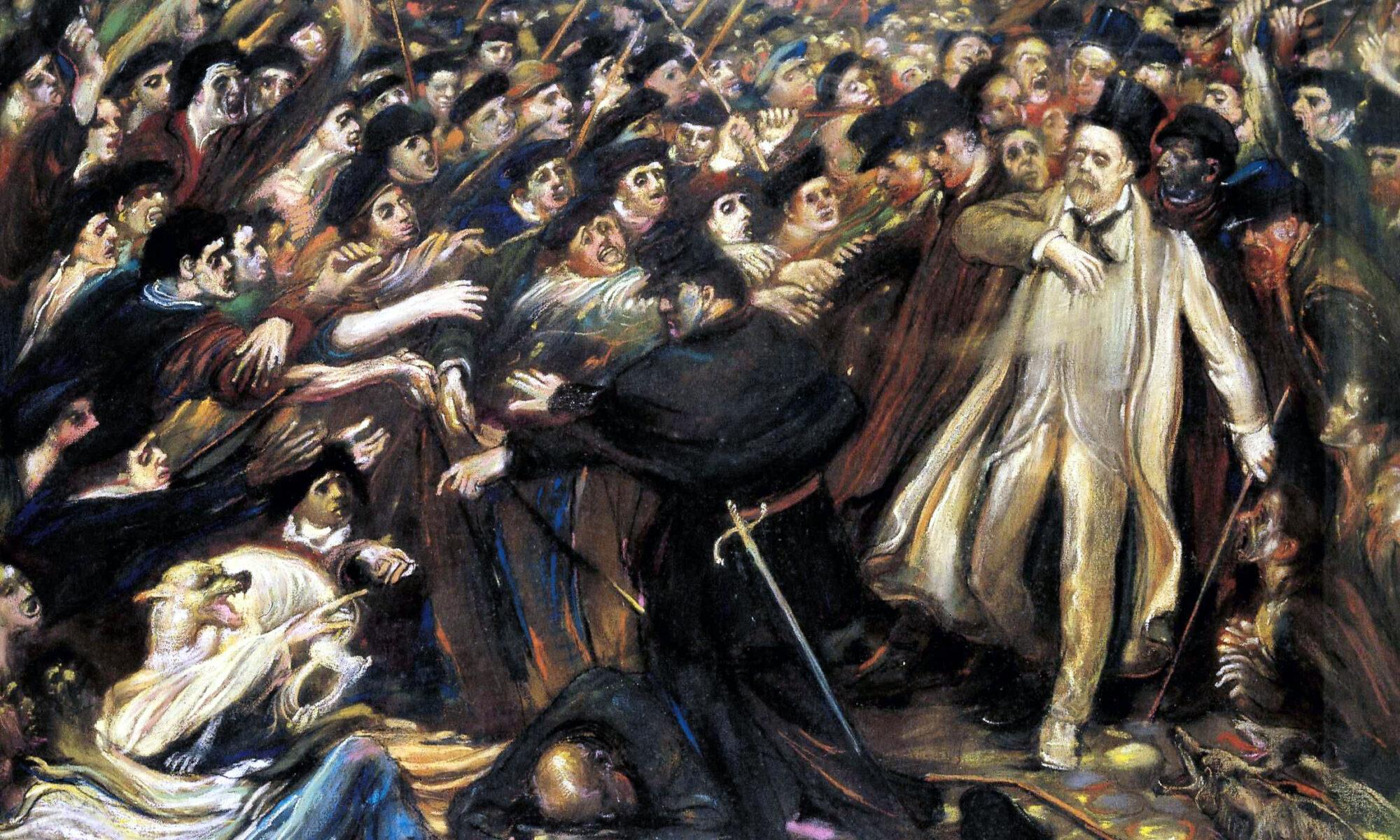 Zola aux Outrages, Henry de Groux, 1898