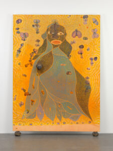 'The Holy Virgin Mary' by Chris Ofili, 1996