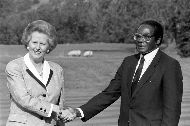 Thatcher and Mugabe at Chequers