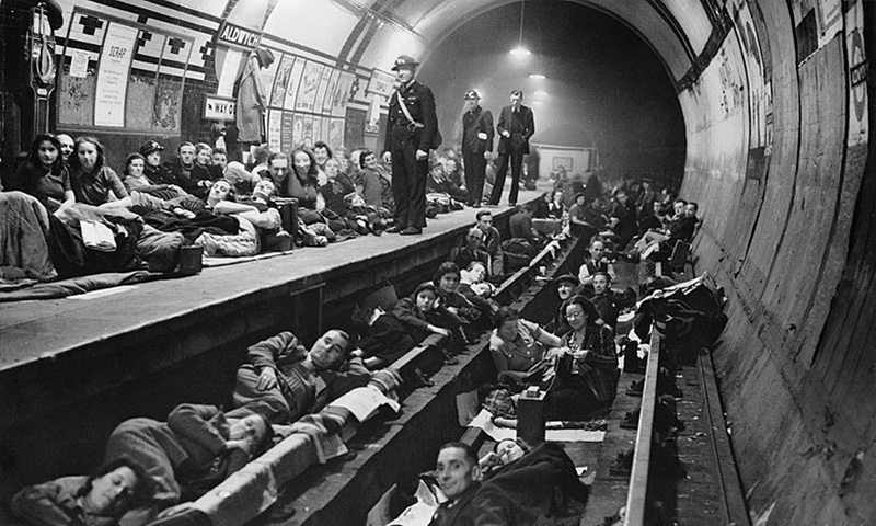 Londoners during the Blitz