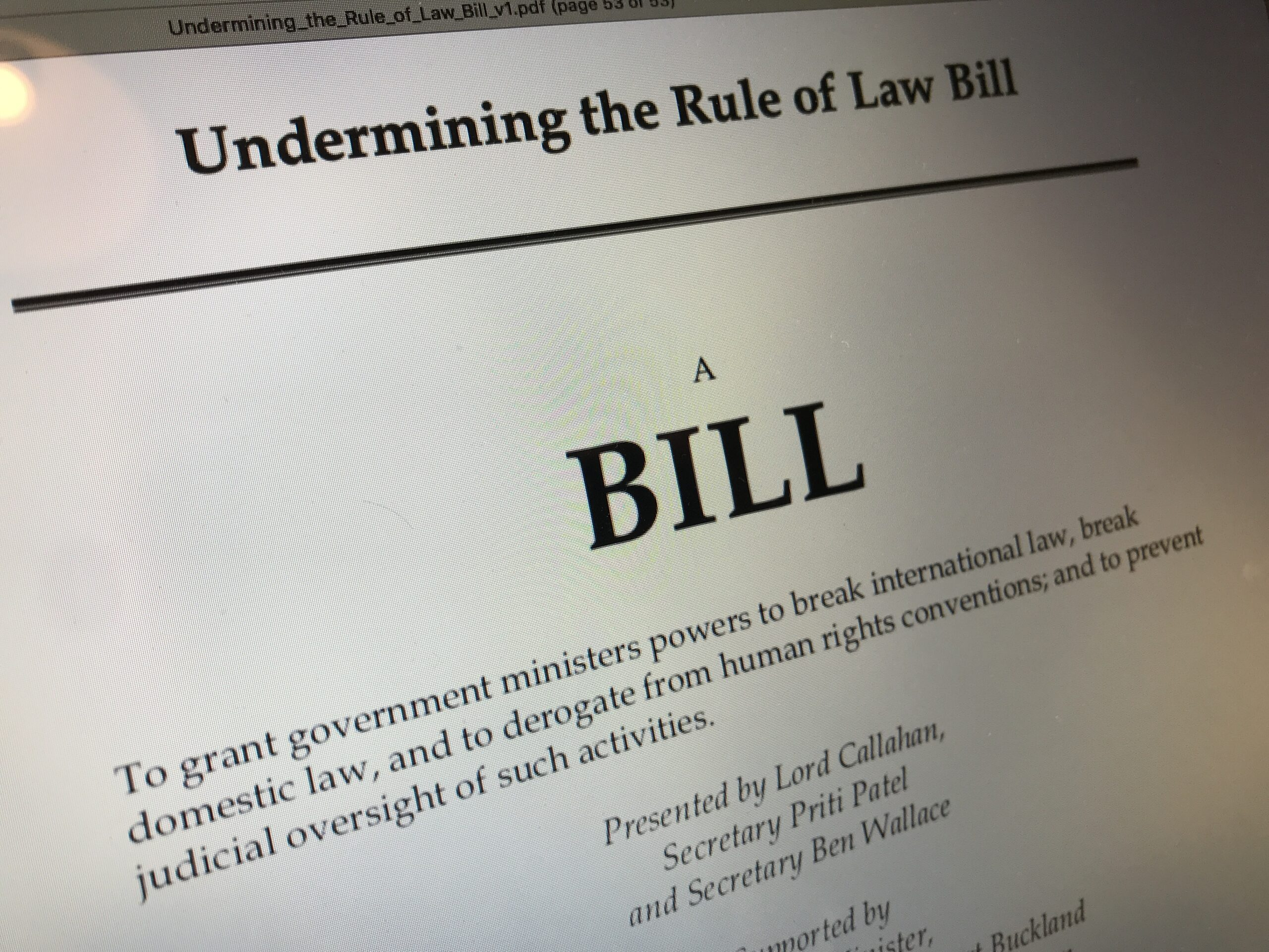 Undermining the Rule of Law Bill
